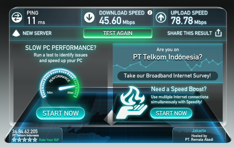 Speedtest WICO