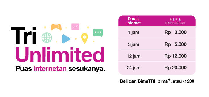 paket internet tri unlimited